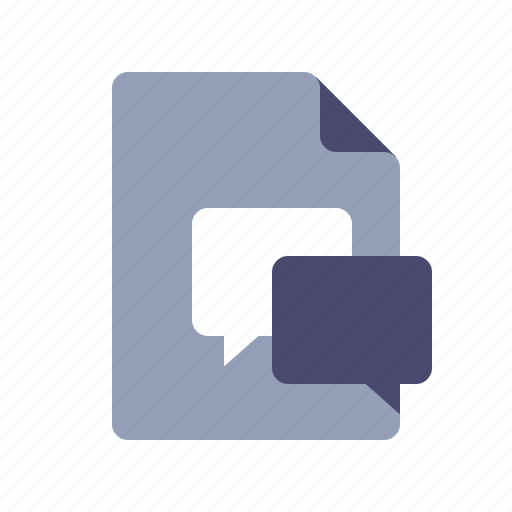 chat, document, feedback, reviews icon