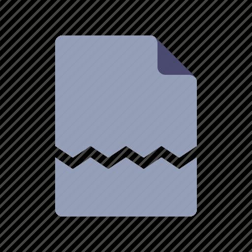 Broken, damaged, document, file, page icon - Download on Iconfinder