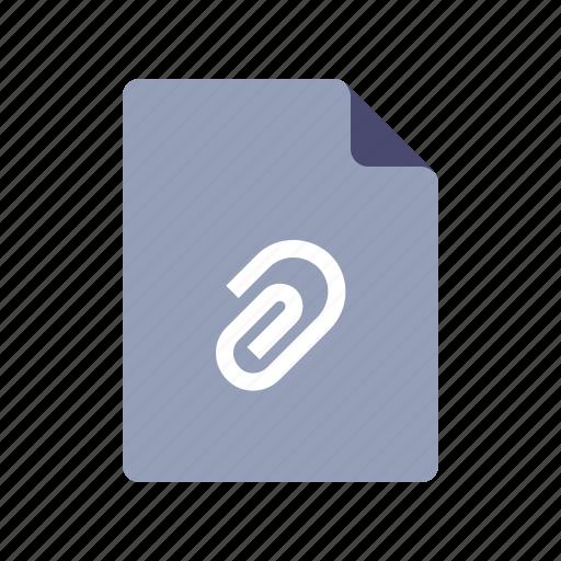 attach, attachment, document, file icon
