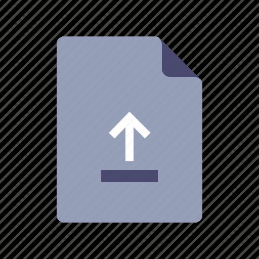 arrow up, document, file, upload icon