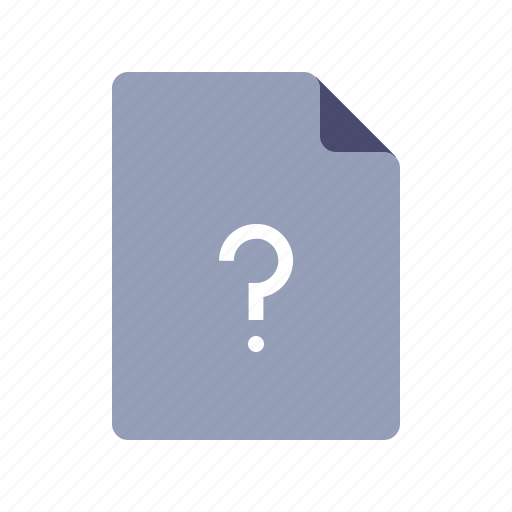 document, faq, page, question icon