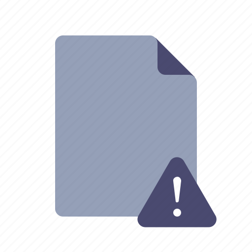 alert, error, file, warning icon