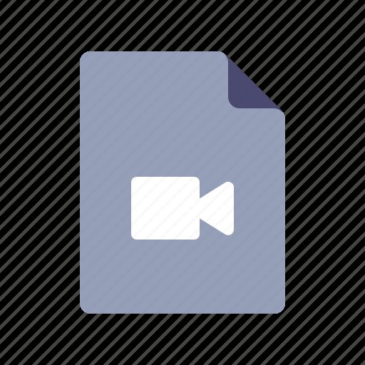 camera, file, record, video icon