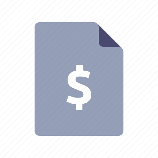 document, dollar, file, income, sales report icon