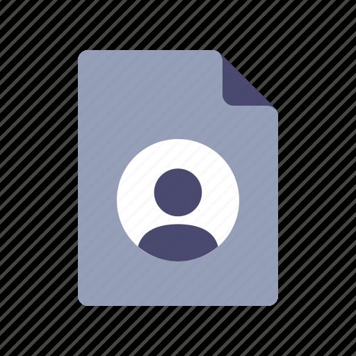 personal page, portfolio, profile, resume icon