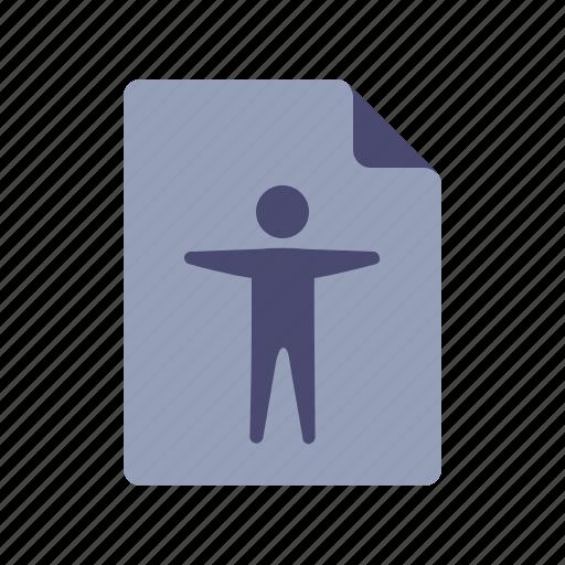 account, document, file, profile icon