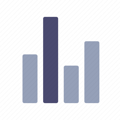 bars, finance, graph, trends icon