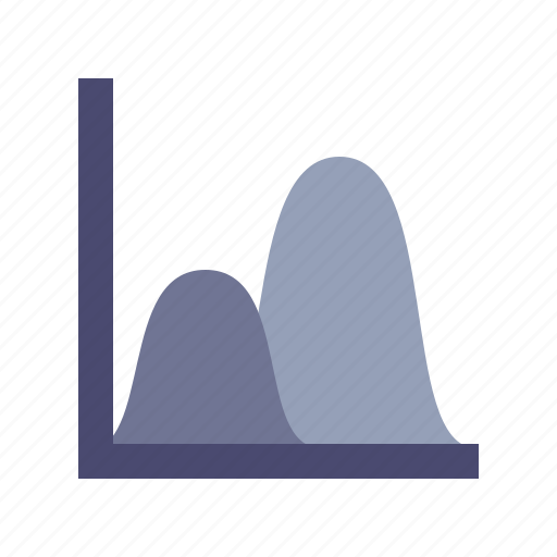 curves, finance, peaks, statistics icon
