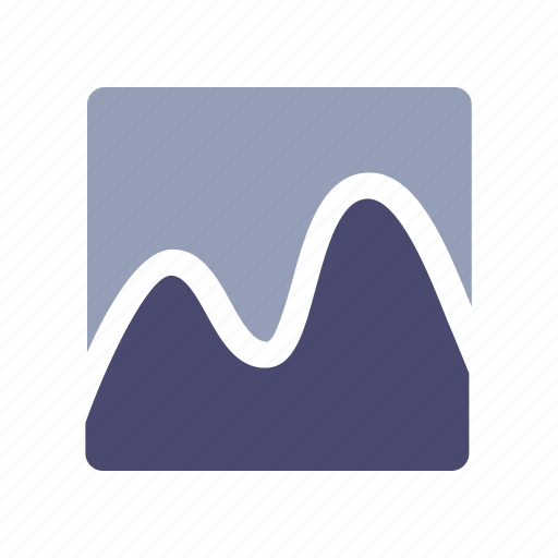 curve, diagram, financial, statistics icon