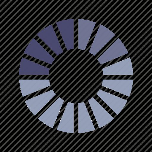 analytics, graph, percentage, segments icon