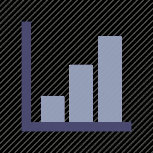 analytics, axis, bars, growth icon