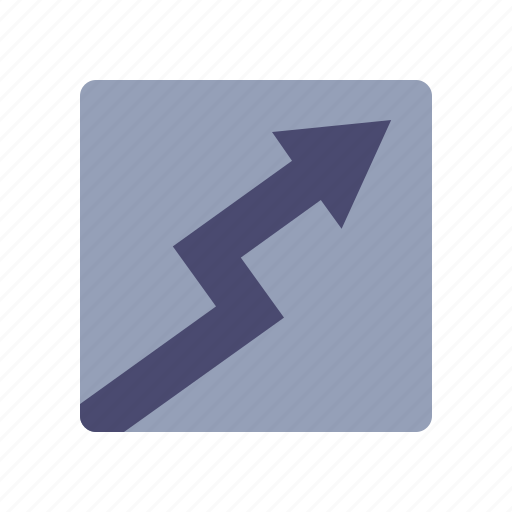 arrow up, costs, growth, stock market icon