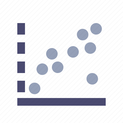 approximate, dots, experiment, statistics icon