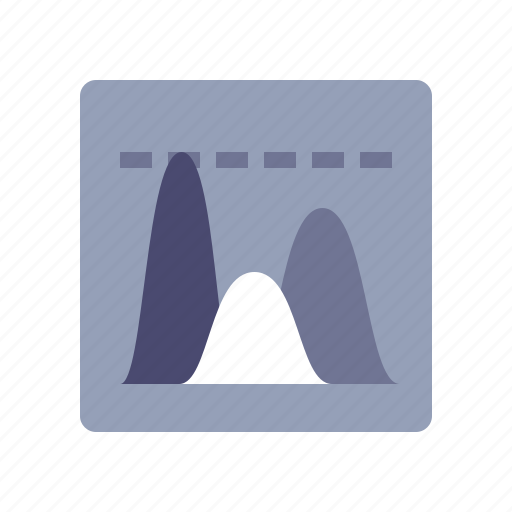 diagram, finance, peaks, reports icon