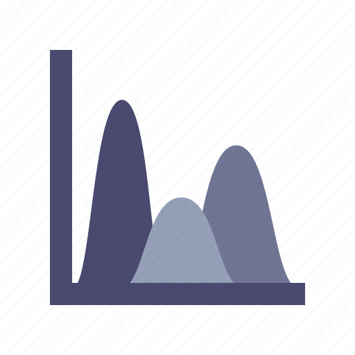 analysis, peaks, reports, research icon