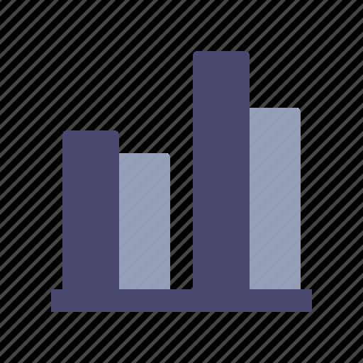 analytics, bars, comparison, graph icon