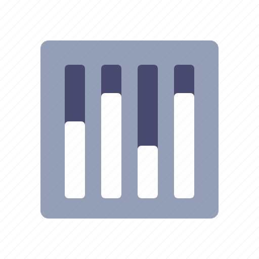 configurations, equalizer, graph, statistics icon