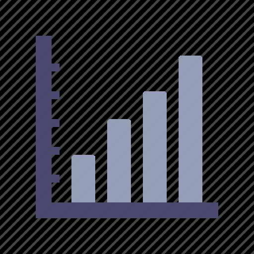 axis, bar, growth, statistics icon