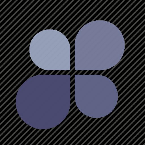 chart, flower, graph, percentage icon