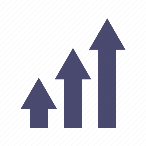 arrows, graph, growth, up icon