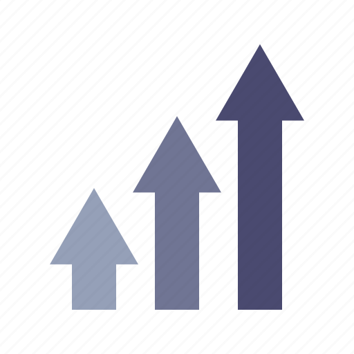 arrows, earning, growth, up icon