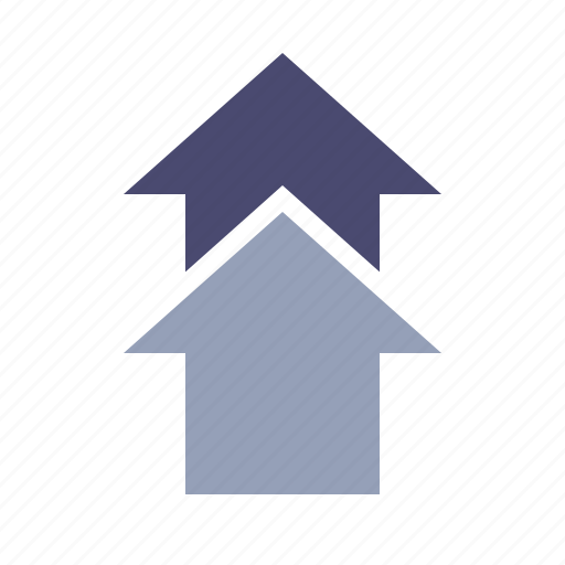 arrows, direction, growth, up icon