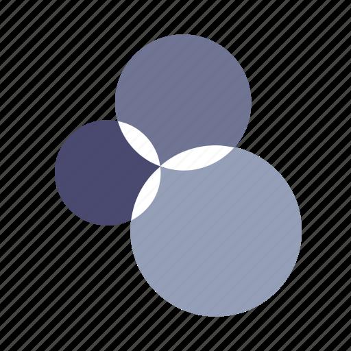 analytics, circles, influence, infographics icon