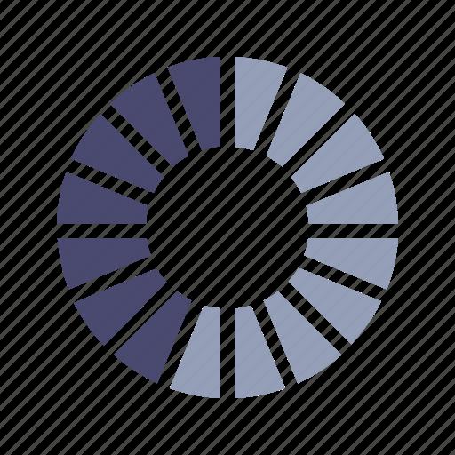 circle, graph, percentage, segment icon