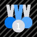 achievement, medals, oriented icon