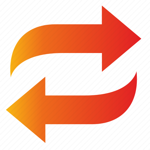 change, exchange, letter icon