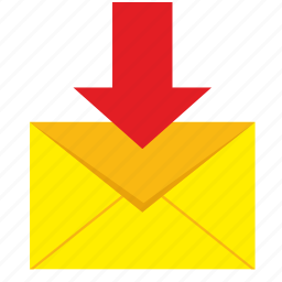 inbox, letter, mail, mailbox icon