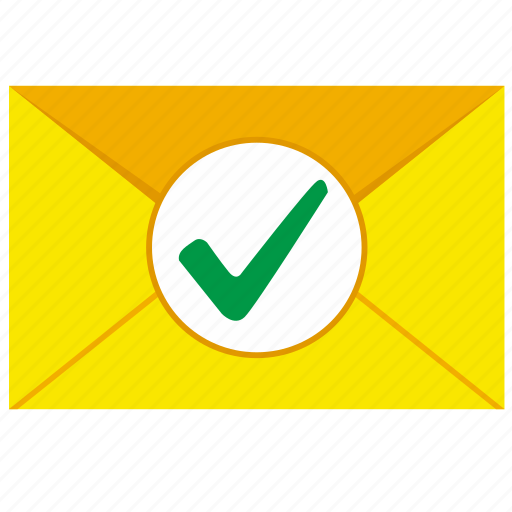accept, complete, letter, mail, ok icon