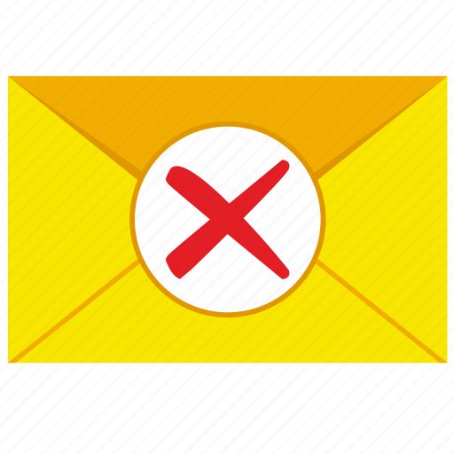 cancel, delete, letter, mail icon