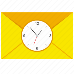 letter, mail, mailbox, send, time icon