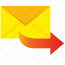 letter, mail, mailbox, next icon