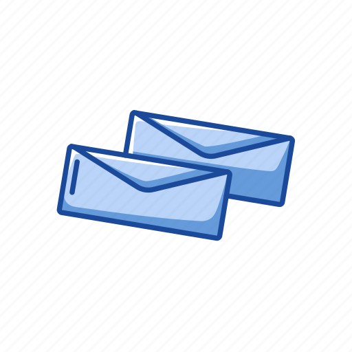 communication, envelope, mail, open envelope icon