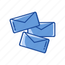 close envelope, communication, envelopes, send icon
