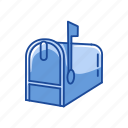 box, close mailbox, mail, mailbox icon