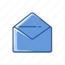 communication, envelope, open envelope, read icon