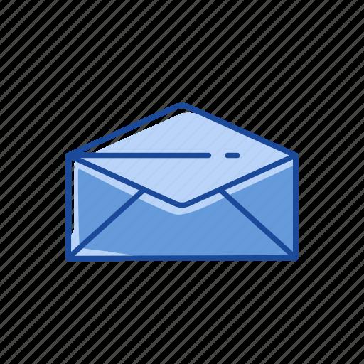 communication, envelope, open envelope, read icon