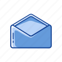 envelope, letter, open envelope, send icon