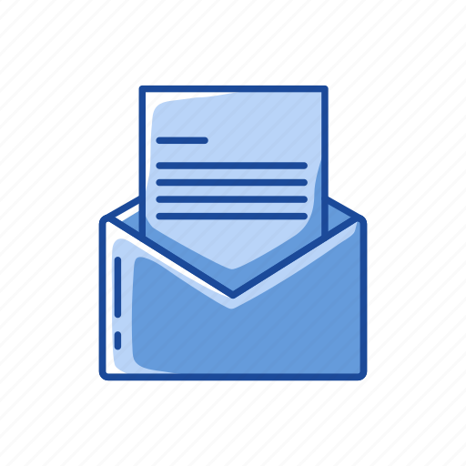 communication, envelope with letter, read, write icon
