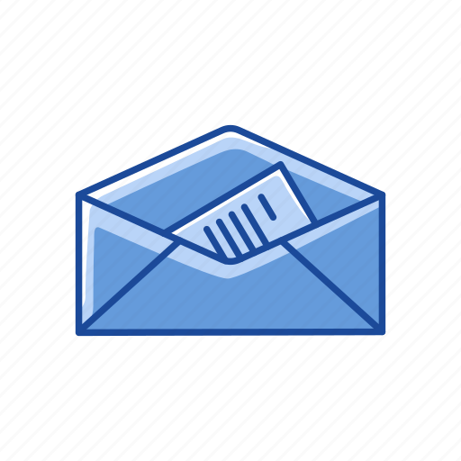 envelope, envelope with letter, open letter, read icon