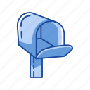 box, communication, mailbox, open mailbox icon