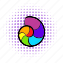 comics, gay, homosexual, living pictogram, love, rainbow, snail icon