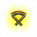 comics, gay, homosexual, line, love, rainbow, ribbon icon