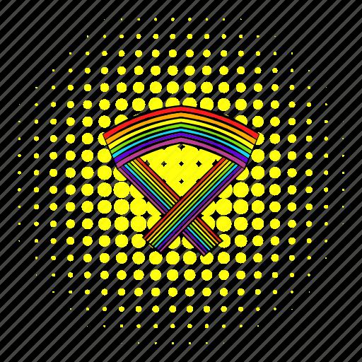 comics, gay, homosexual, line, love, rainbow, ribbon icon