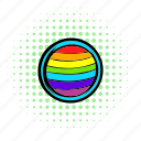 circle, comics, gay, homosexual, love, rainbow, red icon