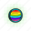 circle, comics, gay, homosexual, love, rainbow, red icon