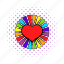 colorful, comics, heart, lesbian, living pictogram, love, rainbow icon